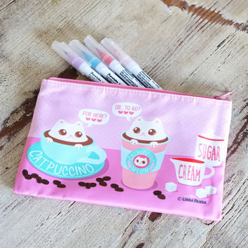 Catpuccinos Pencil Pouch/Cosmetic Bag