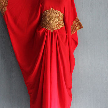 Red Maxi Dress, Matahari Kaftan Dress, Abaya, Plus Size Womens Dress, Elegant Dress, Plus Size Maxi Dress, Kaftan, Party Dress, Long Dress