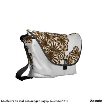 Les fleurs du mal Messenger Bag from Zazzle.com