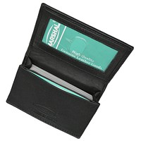 PCF1970 Premium Genuine Leather Expandable Credit Card Id Business Card Holder Wallet