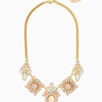 Clarissa Cluster Bib Necklace | Fashion Jewelry-Modern Romance | charming charlie