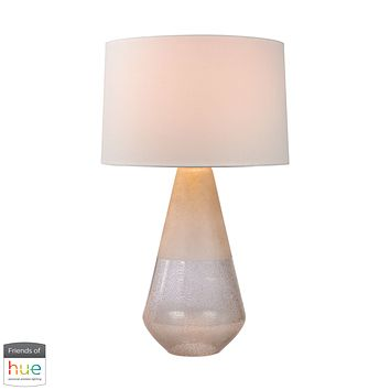 Two Tone Glass Table Lamp - with Philips Hue LED Bulb/Dimmer