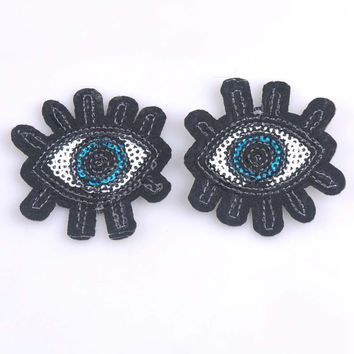 5pcs Eye eyeball tattoo wicca occult goth punk retro applique iron-on patch 5.4x5.6cm cp1093