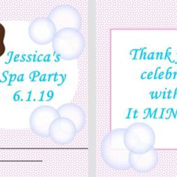 20 Spa Birthday Party Mint Favors Dark Hair