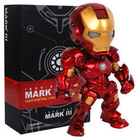 Marvel Avengers Super Hero Iron Man Mini LED Flash Light 15CM PVC Action Figure Doll Set Model Funko Pop Collection Kid Toy Gift