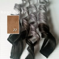 "Silver Ash 12"" 14"" 16"" or 18"" Silver Ash Blonde #27 Stawberry/Honey Blonde 100% Human Hair Ombre Dip Dye Pastel Hair"