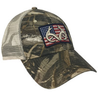 Realtree Max-5 American Flag Patch Mesh Back Hat