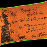 Halloweentown Store: Silhouette Witch Pillow