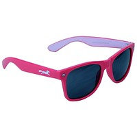 Sly Fox Two Tone Sunglasses in Pink and White by Country Club Prep
