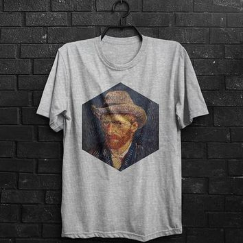 Van Gogh Shirt Self-Portrait TShirt Male Fashion