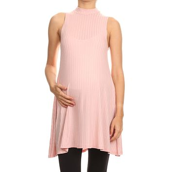 Katlyn Mock Neck Maternity Tunic