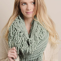 A Hint of Mint Infinity Scarf