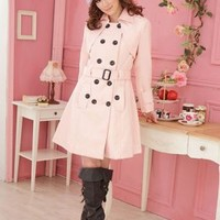 Leisure Soft Warming Fabric Long Jackets With Belt