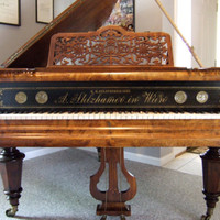 Antique Baby Grand Piano Built in Vienna, Austria