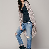 Free People Printed Maze Long Cape