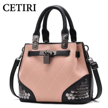CETIRI 2017 Large Capacity Women Handbag Bag Tote Bags For Women Leather Luxury Designer Brand Shoulder Messenger Bag Female