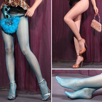 Fashion Women Sexy Sheer Oil Shiny Glossy Classic Pantyhose Tights Stockings