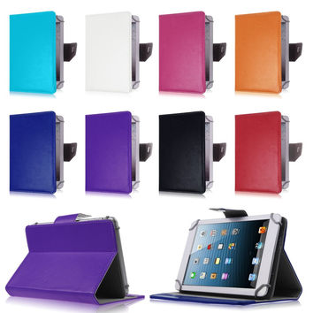 """Fashion Leather Cover Case For LG G Pad 7.0 V400 7""""inch Universal Tablet Cases For Samsung Galaxy Tab 3 7.0 for kids S2C43D"""