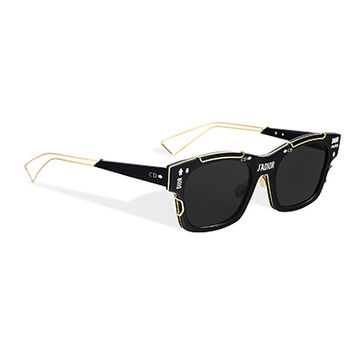 """j'adior"" sunglasses, black and gold-tone - Dior"