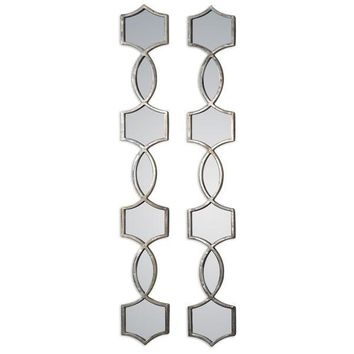 Alexis Linear Silver Wall Mirror Set