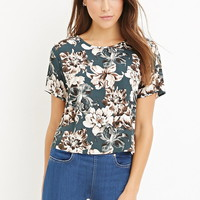 Watercolor Floral Boxy Top