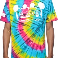 Distorted Mickey Collection By Neff Stretch Tie Dye T-Shirt