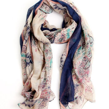 Sunsreen scarf joker fields and gardens floral scarf large scarf women winter warm scarves pashmina shawl = 1958306820
