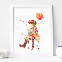 Studio Ghibli - Arrietty Print,  Hayao miyazaki, The Secret World of Arrietty, Film poster, cartoon art, anime wall art instant download
