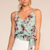 Pick Just One Floral Top - Mint