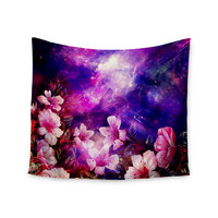 "Shirlei Patricia Muniz ""Space Flowers"" Pink Purple Wall Tapestry"
