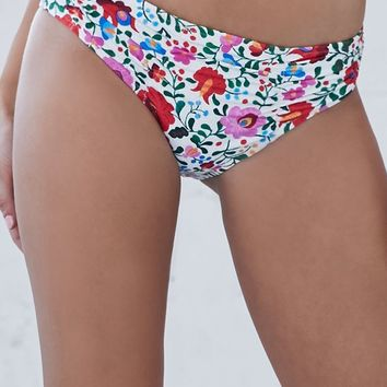 Rhythm Rosarita Floral Print Bikini Bottom - Womens Swimwear - Multi - Small