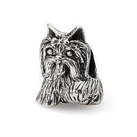 Sterling Silver Yorkshire Terrier Bead Charm