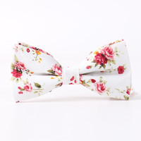 Brand Popular Bow Ties Cotton Floral Neckwear Bowtie for Men Apparel Suit Bow Tie for Mens Wedding Party Fashion Men Accessories