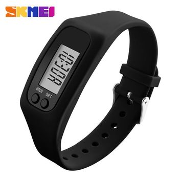Fashion Women Watches Candy Silicone Strap Pedometer Calorie LED Digital Sport Wrist Watch For Men Women Student