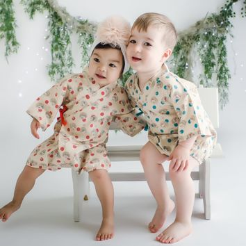 Hedgehog Hideout Baby Kimono Romper - Limited Edition!
