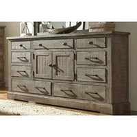 Grey Pine Wood Meadow Door Dresser