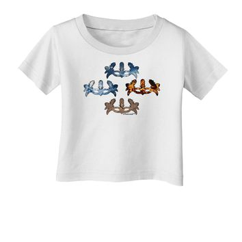Four Elemental Masquerade Masks Infant T-Shirt by TooLoud