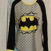 Batgirl Plus Size 3x  Black and yellow Pajamas
