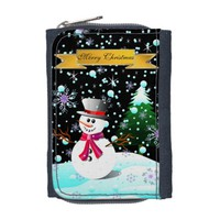Snowman merry Christmas Wallet