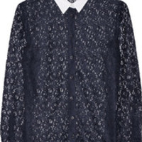Equipment Audrey lace shirt – 60% at THE OUTNET.COM