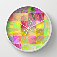 Colorful Summer Party Fun Time Wall Clock by Nirvana.K | Society6