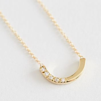 White Diamond Alwa Necklace by Still House for Of a Kind