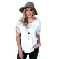 Cast Away Linen Top in Cream