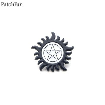 Patchfan Supernatural logo Zinc pins para backpack clothes tie medal for shirt insignia badges brooches for men women A0978