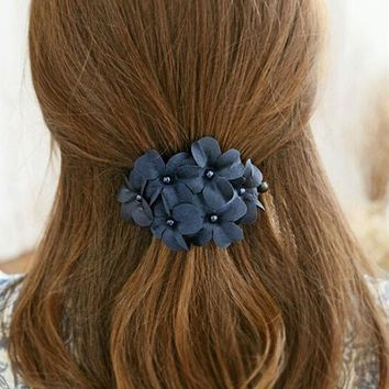 Chic Handmade Flower Barrette Hair Clip