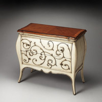 Butler Specialty Eden Carved Wood Bombe Chest - 3247090