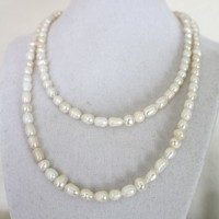 Double strand freshwater pearls necklace