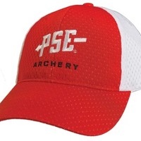 PSE Structured Sport Mesh Red/White Cap