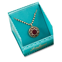 Lucky Brand Gold Tone Red Stone Pendant Necklace