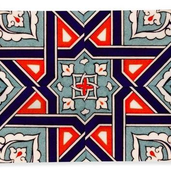 An Ottoman Iznik Style Floral Design Pottery Polychrome, By Adam Asar, No 35 - Bath Towel